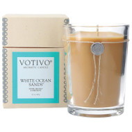 Votivo 16.2 oz Aromatic Large Candle White Ocean Sands