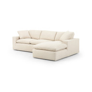 "Four Hands Plume Two - Piece Sectional - 106"" - Right Arm Facing - Thames Cream"