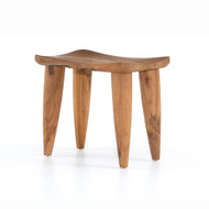 Four Hands Zuri Outdoor Stool - Aged Natural Teak