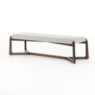 Four Hands Roscoe Bench - Brunswick Pebble