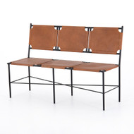 Four Hands Zeke Accent Bench - Caramel Leather