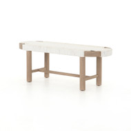Four Hands Sumner Outdoor Bench - Washed Brown