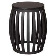 Meridian Metal Granite Stool - Black