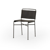 Four Hands Wharton Dining Chair - Distressed Black
