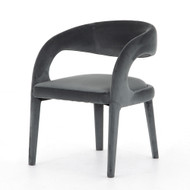 Four Hands Hawkins Dining Chair - Charcoal Velvet