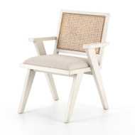 Four Hands Flora Dining Chair - Distressed Cream