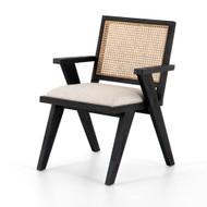 Four Hands Flora Dining Chair - Drifted Matte Black