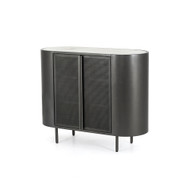 Four Hands Libby Small Cabinet - Gunmetal