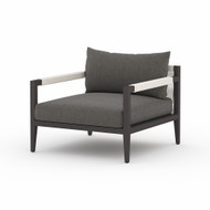 Four Hands Sherwood Outdoor Chair, Bronze - Charcoal