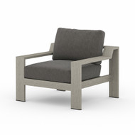 Four Hands Monterey Outdoor Chair - Charcoal - Weathered Grey