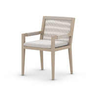 Four Hands Sherwood Outdoor Dining Armchair, Washed Brown - Stone Grey