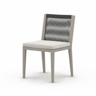 Four Hands Sherwood Outdoor Dining Chair, Weathered Grey - Stone Grey