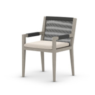 Four Hands Sherwood Outdoor Dining Armchair, Weathered Grey - Faye Sand