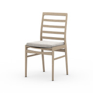 Four Hands Linnet Outdoor Dining Chair - Washed Brown - Stone Grey
