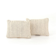 """Four Hands Ari Rope Weave Pillow, Set Of 2 - 16X24"""""""
