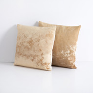 Four Hands Modern Cowhide Pillow, Set Of 2 - Natural Brown
