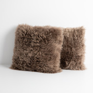 Four Hands Lalo Lambskin Pillow, Taupe, Set Of 2