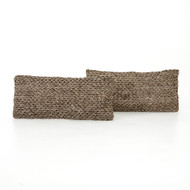"""Four Hands Stone Braided Pillow, Set Of 2 - 12X28"""""""