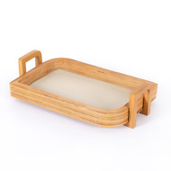 Four Hands Claire Serving Tray - Honey Rattan
