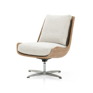 Four Hands Burbank Swivel Chair - Noble Platinum
