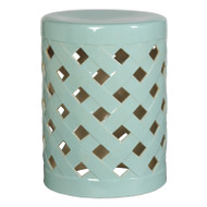 Criss Cross Stool - Turquoise