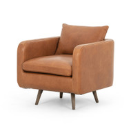 Four Hands Kaya Swivel Chair - Haven Tobacco