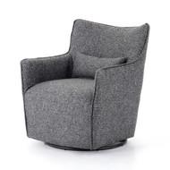 Four Hands Kimble Swivel Chair - Bristol Charcoal