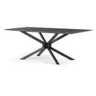 "Four Hands Spider Dining Table - 79"" - Bluestone"