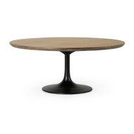 "Four Hands Powell Dining Table - 71"" - Bright Brass Clad"