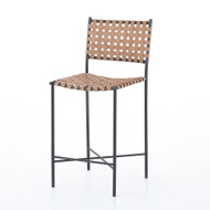 Four Hands Garza Counter Stool - Natural Leather