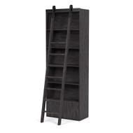 Four Hands Bane Bookshelf W/ Ladder - Dark Charcoal