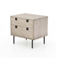 Four Hands Carly 2 Drawer Nightstand - Grey Wash