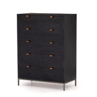 Four Hands Trey 5 Drawer Dresser - Black Wash Poplar