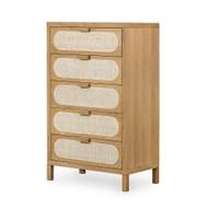 Four Hands Allegra 5 Drawer Dresser - Natural Cane