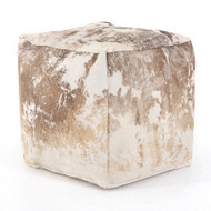 Four Hands Harland Modern Hide Pouf