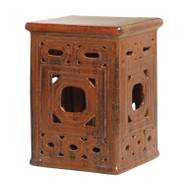 Lattice Garden Seat - Brown