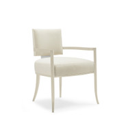 Caracole Reserved Seating Arm Dining Chair - Brushed Chrome