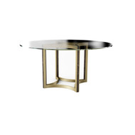 Caracole Remix Glass Top Dining Table 60""