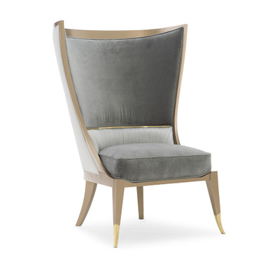 Caracole Pop Your Collar Chair - Grey