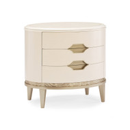 Caracole Adela Nightstand - Washed Alabaster