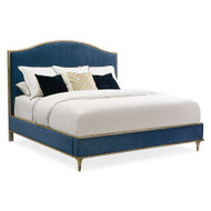 Caracole Fontainebleau Queen Bed - Lucious Blue