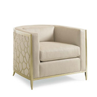 Ice Breaker - Barrel Back Club Chair with Gold Frame