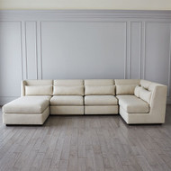 Alder Sectional Ottoman - Moonstone
