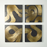 Currents Wall Panel - Brass/Bronze - A