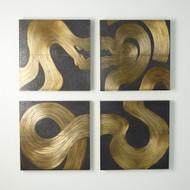 Currents Wall Panel - Brass/Bronze - D