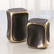 Formation Accent Table - Black/Gold - Sm