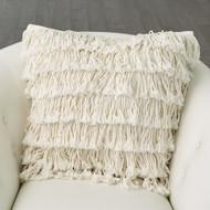 Fringe Pillow - Linen