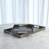 Kokoro Etched Rectangular Tray - Nickel - Lg