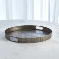 Kokoro Etched Round Tray - Nickel
