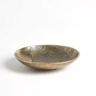 Linen Round Tray - Brass